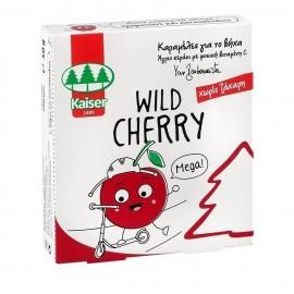 Kaiser Wild Cherry, Καραμέλες για τον Βήχα Χωρίς Ζάχαρη 50gr