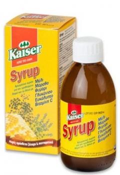 Kaiser Syrup, Αρωματικό Σιρόπι για τον Ερεθισμένο Λαιμό και το Βήχα 200ml,