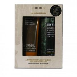 Korres Promo Aftershave Balm Mountain Pepper Bergamot Coriander 125ml & ΔΩΡΟ Showergel 250ml