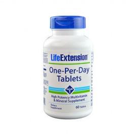 Life Extension One-Per-Day Multivitamin, Ισχυρή Πολυβιταμίνη 60Tabs
