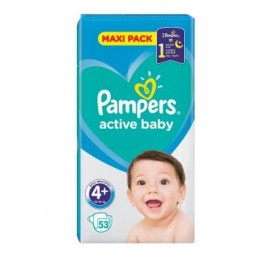 Pampers Active Baby Dry Maxi Pack No 4+ (10-15Kg) 53Τμχ