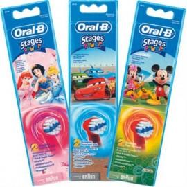 Oral-B Stages Power Ανταλλακτικά για Ηλεκτρική Παιδική Οδοντόβουρτσα, 2 Τεμάχια