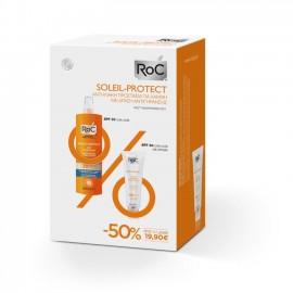 Roc Soleil-Protect Anti-Ageing Illuminating Color Fluid SPF50 50ml & Moisturising Spray Lotion SPF30 200ml