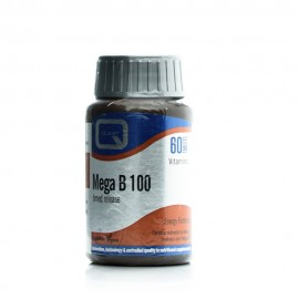 Quest Mega B-100 Timed Release, Συμπλήρωμα Διατροφής Βιταμίνης B 60Tabs