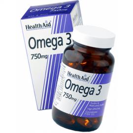 Health Aid Omega 3, 750mg, Καλή Λειτουργία της Καρδιάς, Έλεγχο Χοληστερίνης, 30 Κάψουλες