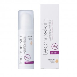 Tecnoskin Total Beauty Face Cream, Αντιρυτιδική Κρέμα Προσώπου Αll in Οne SPF 30 - Medium Aπόχρωση 50ml