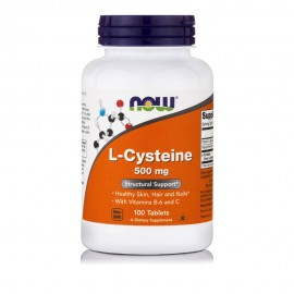 Now Foods L-Cysteine 500mg L-Κυστεΐνη 100tabs
