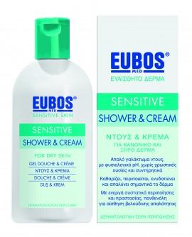 Eubos Sensitive Shower & Cream, Αφρόλουτρο-Κρέμα για Ξηρό και Κανονικό Δέρμα 200ml